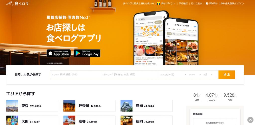 食べログ(Ruby on Railsで作られたアプリ)