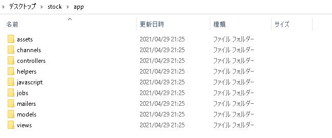 Ruby on Railsの構成(app)